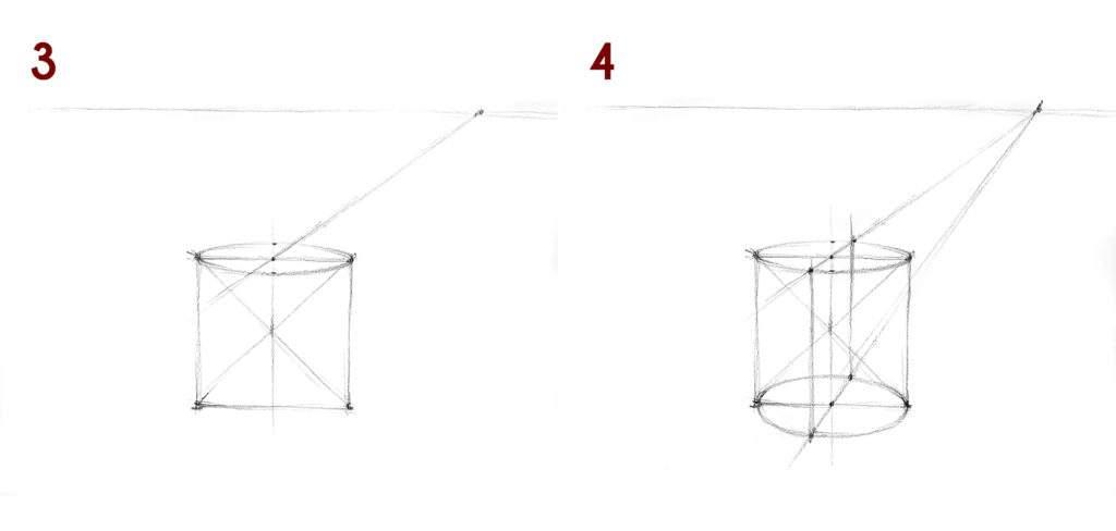 jak narysować sześcian